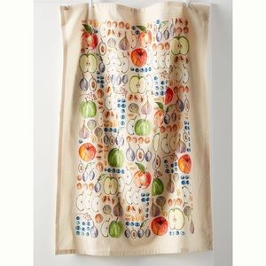 NWT Anthropologie Cotton Fruit Print Dish Towel